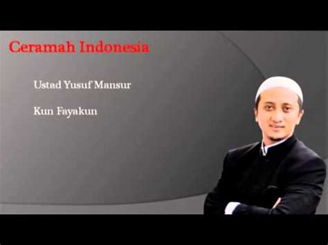 download mp3 ceramah ustd yusuf mansyur ceramah ustad yusuf mansur kunfayakun mp3 version youtube