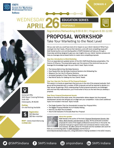 design workshop proposal smps indiana organizes proposal workshop in indianapolis