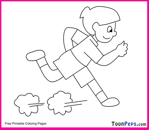 Running Coloring Pages free coloring pages of running