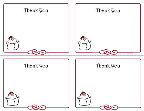 Printable Thank You Cards Free Template by 5 Free Thank You Card Template Ganttchart Template
