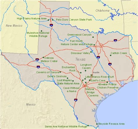 map of state parks in texas national landmarks by state national landmarks u s national park service