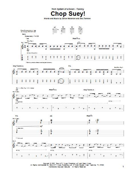 drum tutorial chop suey chop suey by system of a down guitar tab guitar