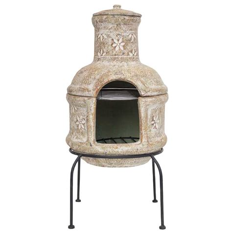 Small Clay Chiminea Clay Chimineas Sale Fast Delivery Greenfingers