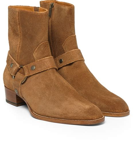 suede mens boots laurent suede harness boots