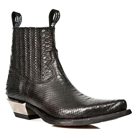 alligator skin boots new rock style m 7953 s4 crocodile skin black cowboy ankle
