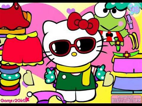 game design your hello kitty dress hello kitty dress up game free game youtube