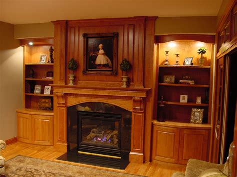 Custom Made Fireplace Mantel And Built In Shelving by BBG