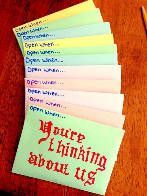 Gift Letter Relationship 25 best open when cards images on boyfriend