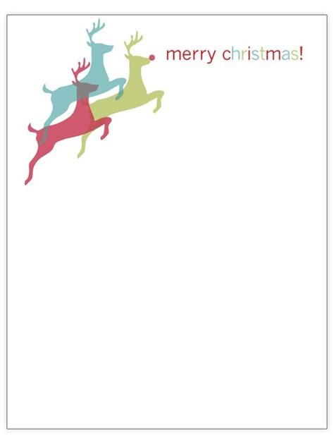 christmas letterhead templates letter of recommendation