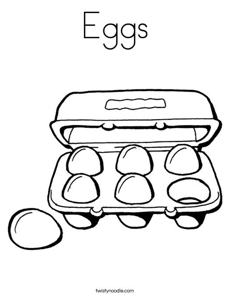 Eggs Coloring Page Twisty Noodle Egg Coloring Page