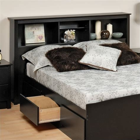 black bookcase headboard queen black full queen wood bookcase headboard 2 piece bedroom