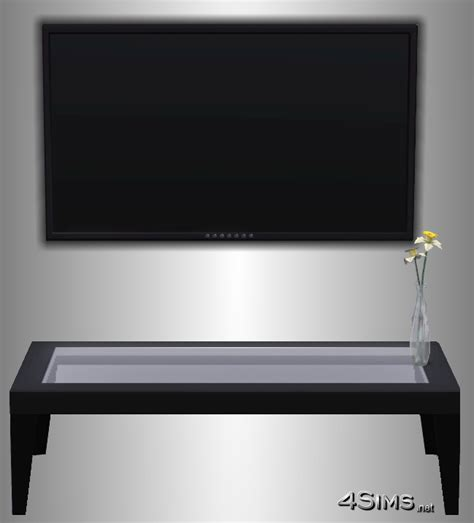 Oriental Bedroom performant plasma wall tv for sims 3 4sims
