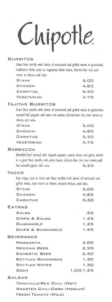 printable qdoba menu chipotle menu pdf www pixshark com images galleries