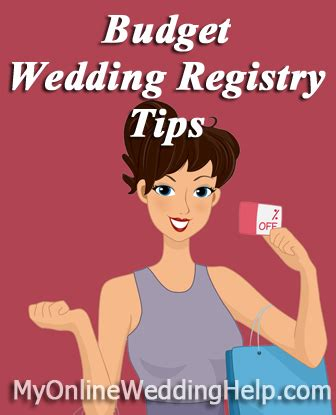 Wedding Registry Tips by Budget Wedding Registry Tips My Wedding Help