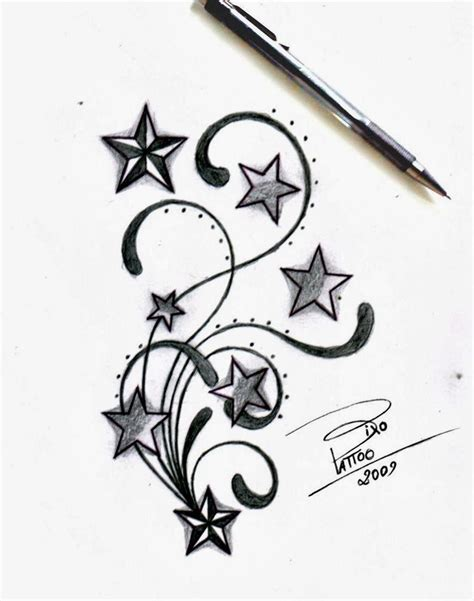 shooting star tattoos for men glamorous shooting designs for 20