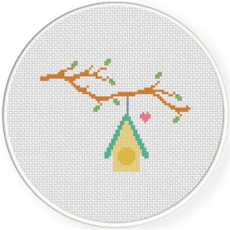 cross stitch pattern house rules charts club members only lovely bird house cross stitch
