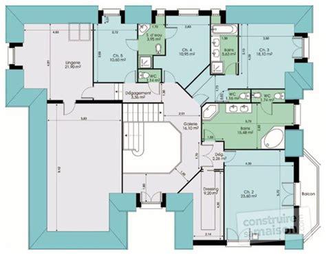 Formidable Salle De Douche Dans Chambre #3: plan-grande-maison-vide-etage-17884.jpg