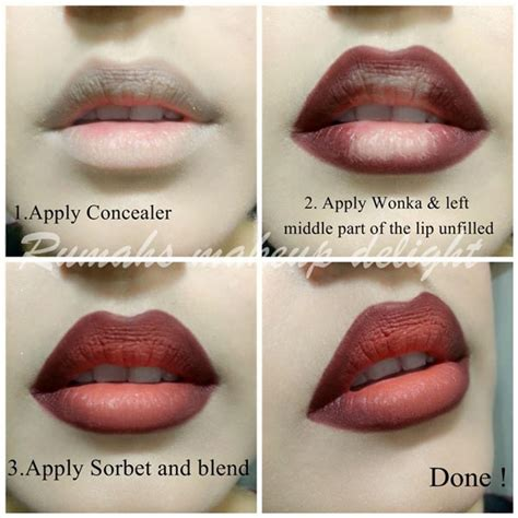 video tutorial lipstik ombre how to do ombre lips makeup tutorial step by step picture