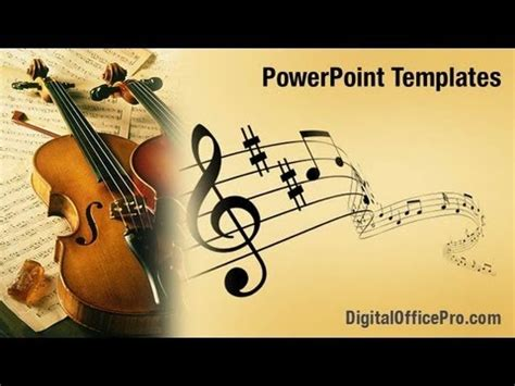 violin music powerpoint template backgrounds
