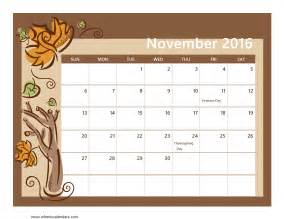 november calendar template november 2016 calendar printable for seasons of the year