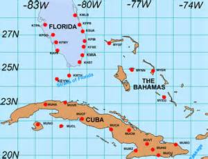 Map Of Cuba And Florida by Map Of Cuba In Relation To Florida Most Curious Map Images