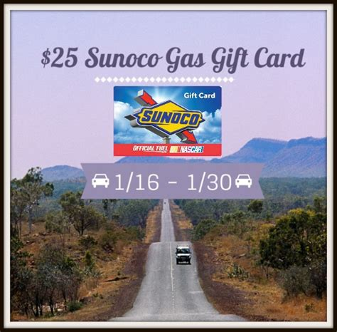 Sunoco Gas Gift Card - 25 sunoco gas gift card giveaway 1 30