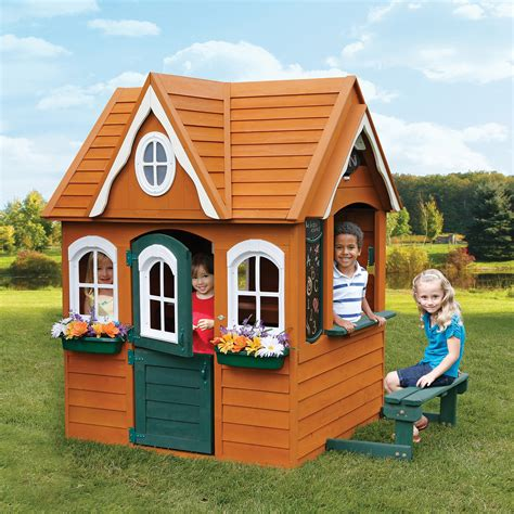 backyard cedar playhouse backyard discovery timberlake cedar wooden playhouse