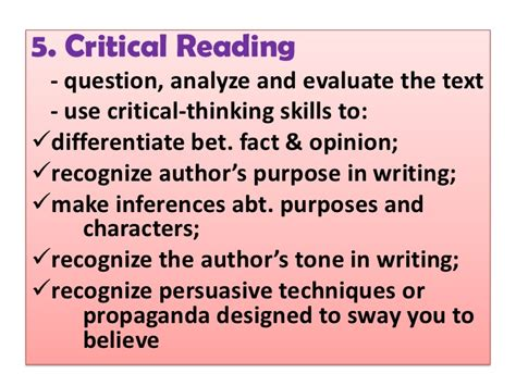 Critical Reading Essay by Kinds Of Reading