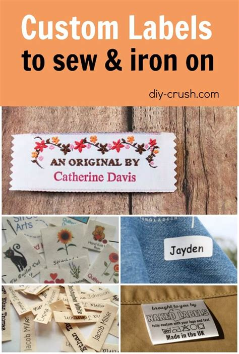 Sew In Tags For Handmade Items - fabric labels for handmade items diy crush