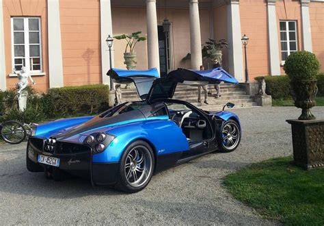 Blue Pagani Huayra Spotted On Set Of Pepsi Commercial