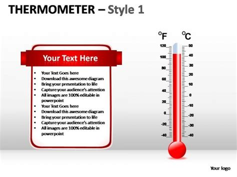 Thermometer Style 1 Powerpoint Presentation Slides Thermometer Powerpoint Template