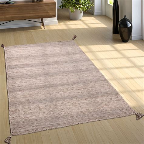 vloerkleed beige gemeleerd geweven vloerkleed kelim gem 234 leerd beige tapijt tapijt met