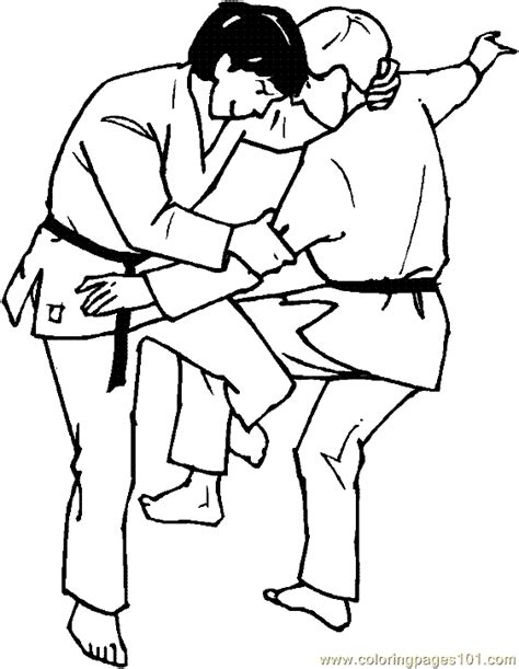 karate coloring pages judo karate coloring page martial arts