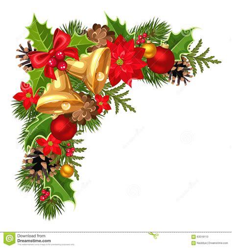 Hiasan Pohon Natal Tree Ribbon Slinger esquina decorativa de la navidad con las ramas las bolas las canas el acebo la poinsetia