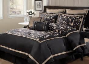 8pc evelyn black oversized bedding set bedding and