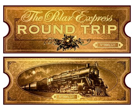 search results for printable polar express ticket free