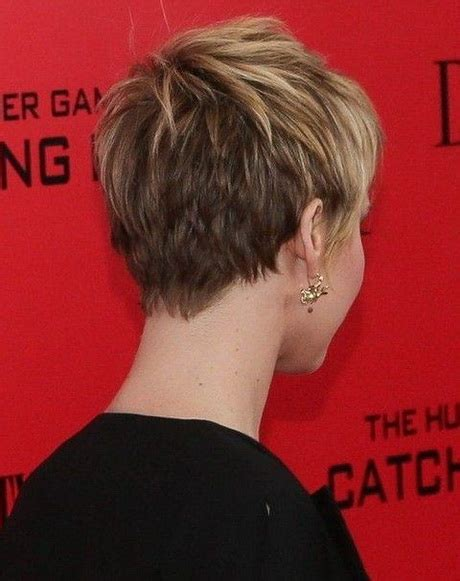 rear view of short hairstyles short pixie haircuts back view