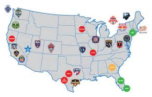 mls canada map united states national s soccer league soccer