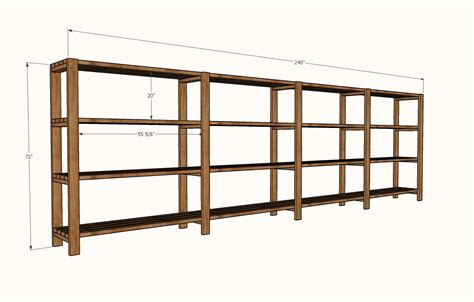 Garage Shelving White Easy Economical Garage Shelving From 2x4s
