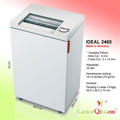 Ideal 2245 Sc Paper Shredder Mesin Penghancur Kertas mesin penghancur kertas paper shredder ideal 2465 sc atk qita