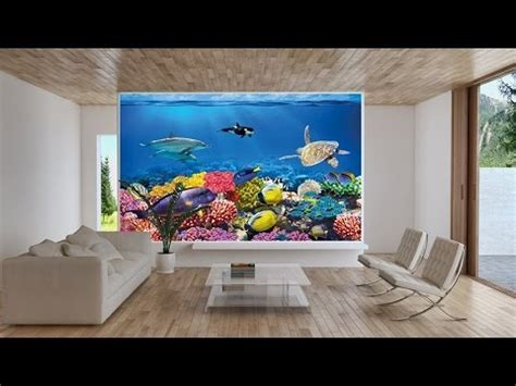 Paint A Wall Mural undersea coral reef photo wall paper aquarium fish sea