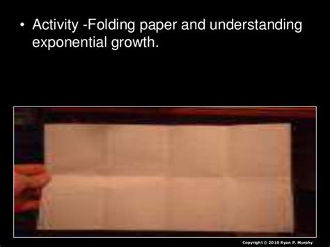 Folding Paper Exponential Growth - niche limiting factors human population and more lesson