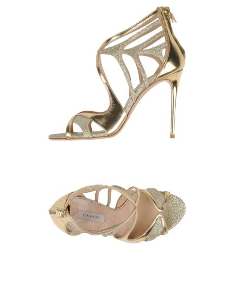 Are Designer Shoes Worth The Hefty Price by Casadei Sandals Gold Footwear Casadei Blade Shoes