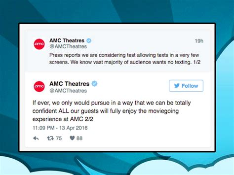 amc theatres will not allow texting you spoke we listened amc threatens to allow texting in theaters 13 photos