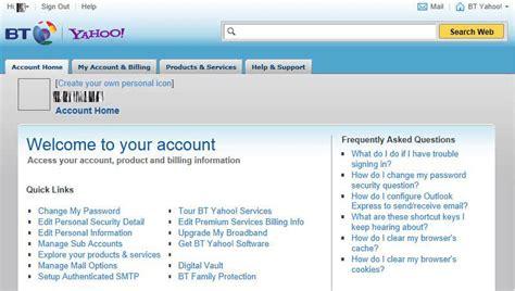 email yahoo bt how to change your bt email password cumbria computer