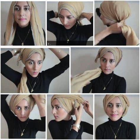 tutorial buat turban tutorial hijab turban simple www pixshark com images