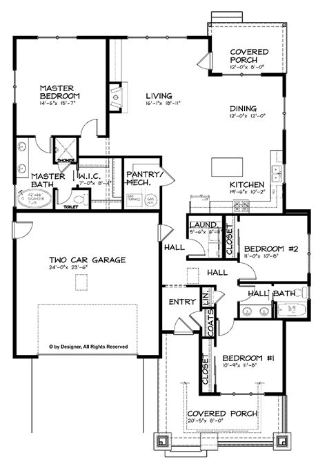 one story house plan open floor house plans one story