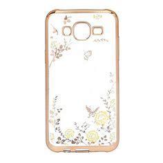 Softcase Secret Gardeniring Swarovsky Samsung J5 Prime roze bloem roos patroon tpu acryl zachte hoes voor samsung galaxy j1 galaxy j5 galaxy j7