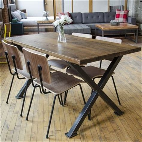 industrial kitchen table and chairs buy a handmade industrial modern x frame reclaimed wood