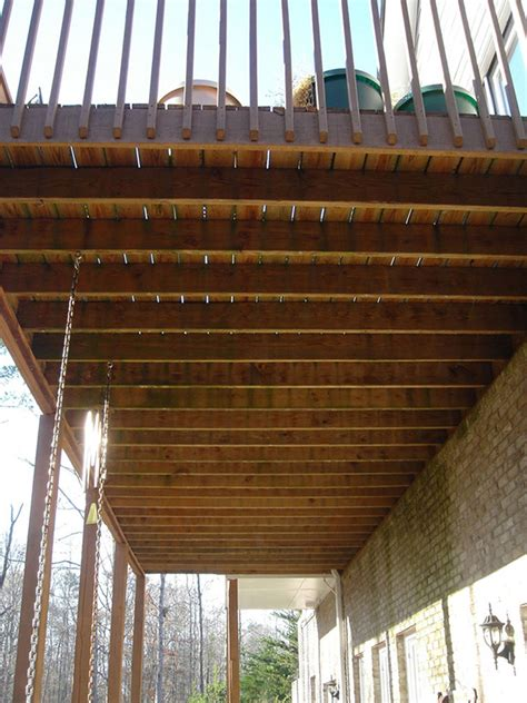 Deck Ceiling Systems before after deck ceilingphotos exovations